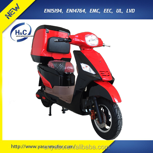 72V 2 Wheel Electric Scooter For Delivery EEC approval With Super Box