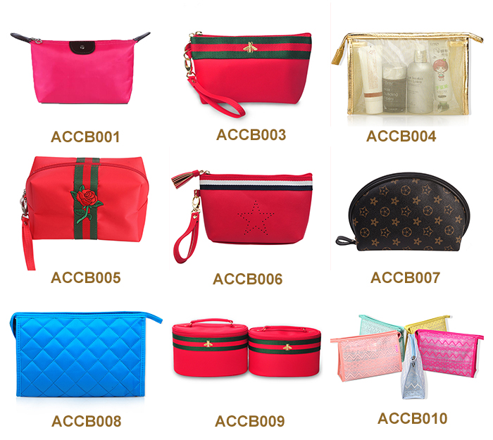 High capacity fashionable cosmetic travel bag cheap eco beauty cosmetic bag