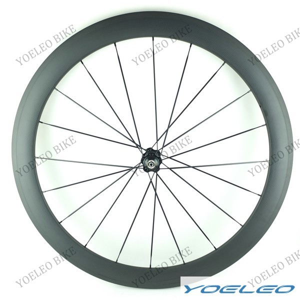 Super Light YOELEO 1 Year Warranty 700C 25MM Width U-Shape Bicycle Carbon Wheels 50MM Tubular with Fast Speed