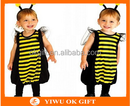 Cute Honeybee Costumes Dress with Headband