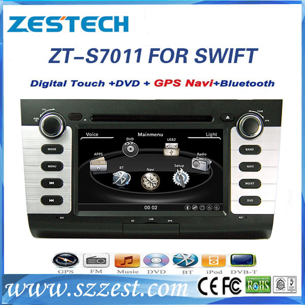 ZESTECH Touch screen car gps for SUZUKI 2004-2010 SWIFT with radio Steering Wheel Control