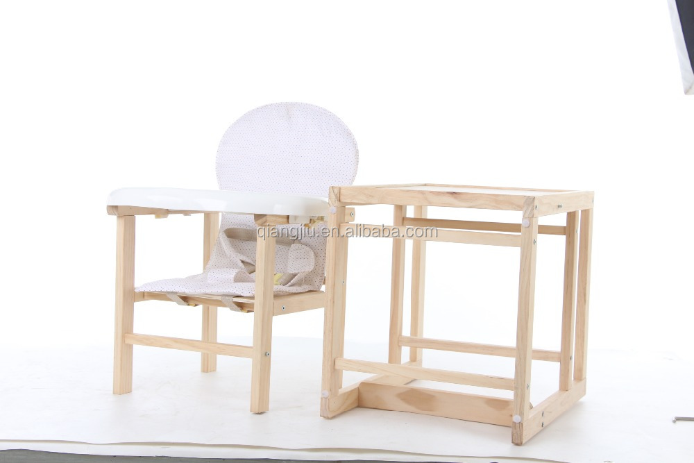 Multifunction adjustable height Baby Wooden Dining Chair