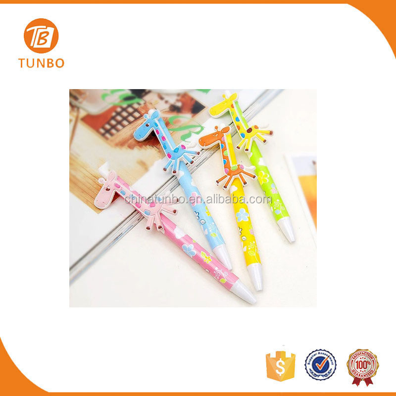 Hot sale promotional stationery product deer push action ballpoint pen