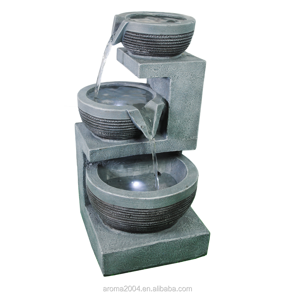 tiers polyresin garden products waterfall fountain for garden