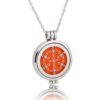 24'' Chian Essential Oil Aromatherapy Diffuser Stainless Steel Locket Necklace