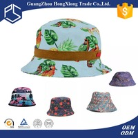 Guangzhou hat colorful flower fabric bucket hat pattern wholesale