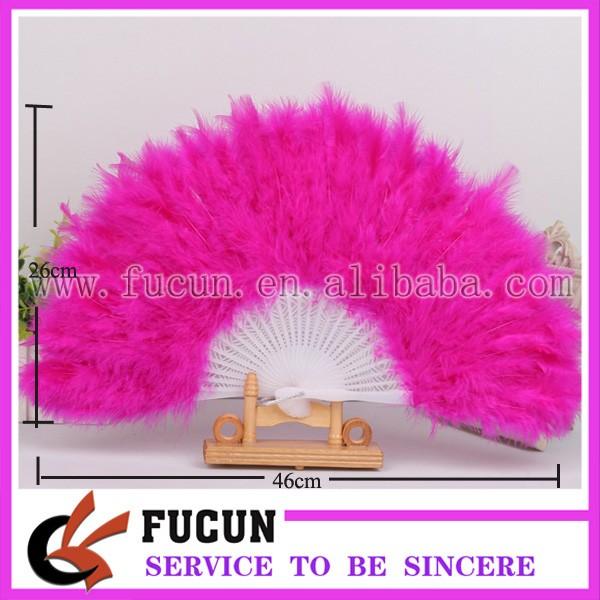 28 hot pink feather fan size.jpg