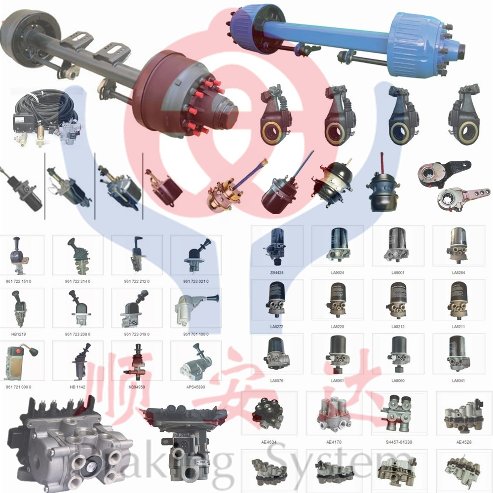 trailer axle and brake parts
