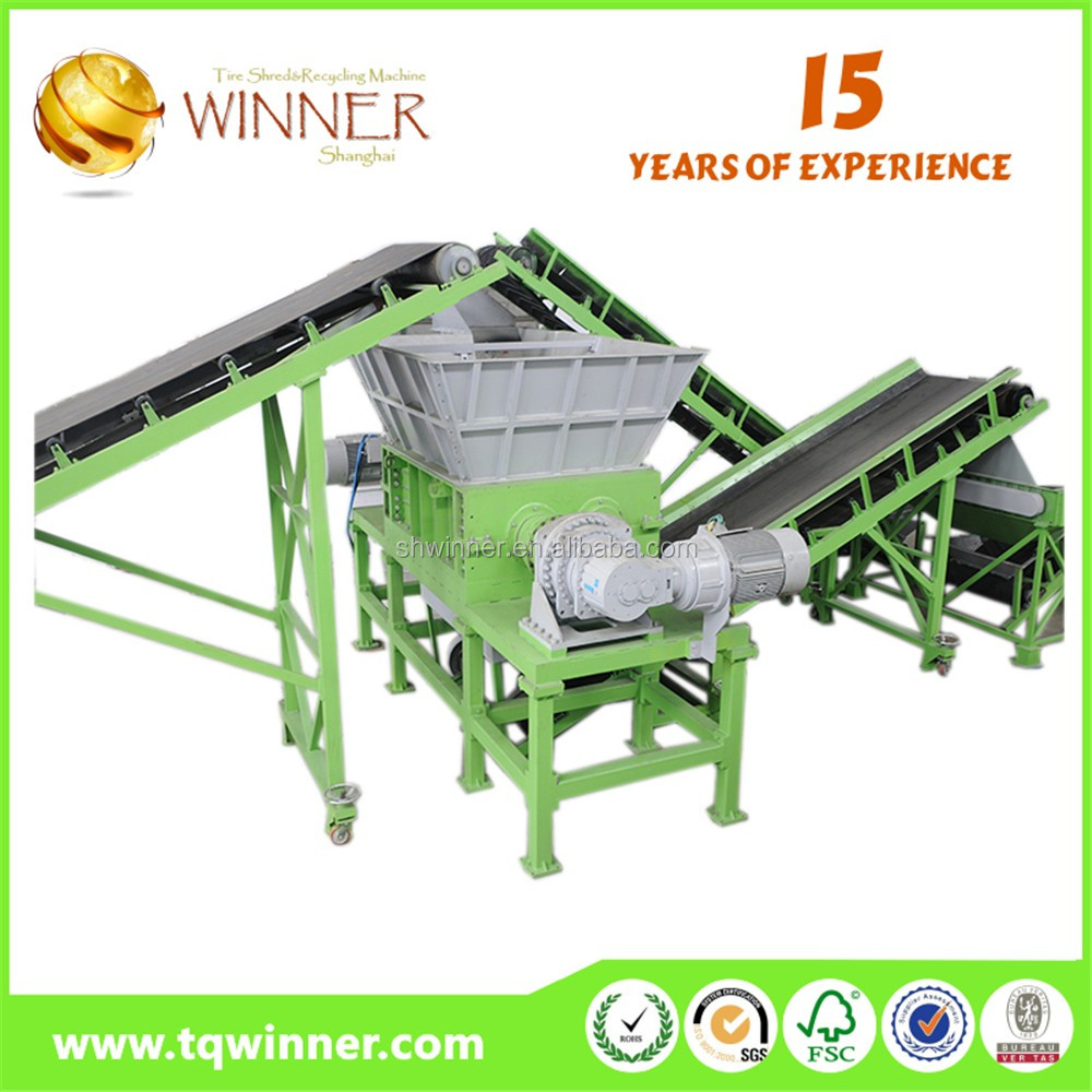 Hot sale popular 800mm waste car tires cutting and recycling machinery