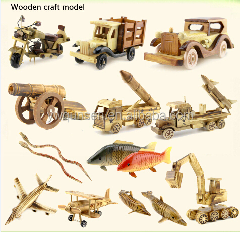 QS brand factory sale Popular educational toy for kids wooden Diy disassembling model car toys