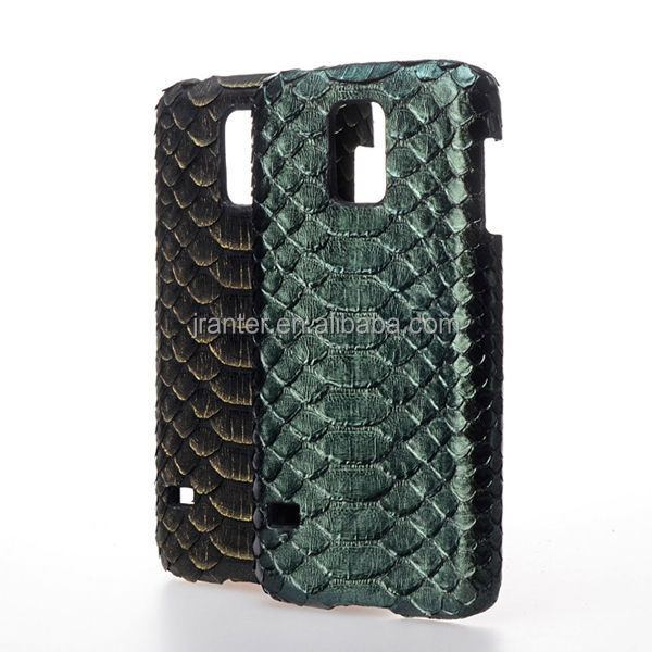 Jranter Real Python Skin Covered Plastic Cell Phone Cover