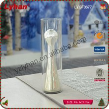 2017 inventive glass home decoration clear glass ornament
