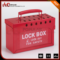 Elecpopular Cheap Durable Electrical Lockout Devices Safety Multiple Slot Lock Out Boxes