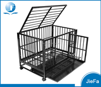 extra strong double door folding metal dog crate