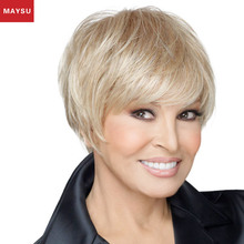 Maysu top quality old lady wig,best selling jessica wig,aliexpress silver human hair wig