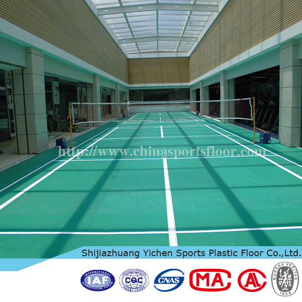 Indoor badminton court self adhesive plastic floor covering
