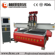 Hot sale good quality 1325 multi heads cnc router/ woodworking 2 spindles wood carving machine