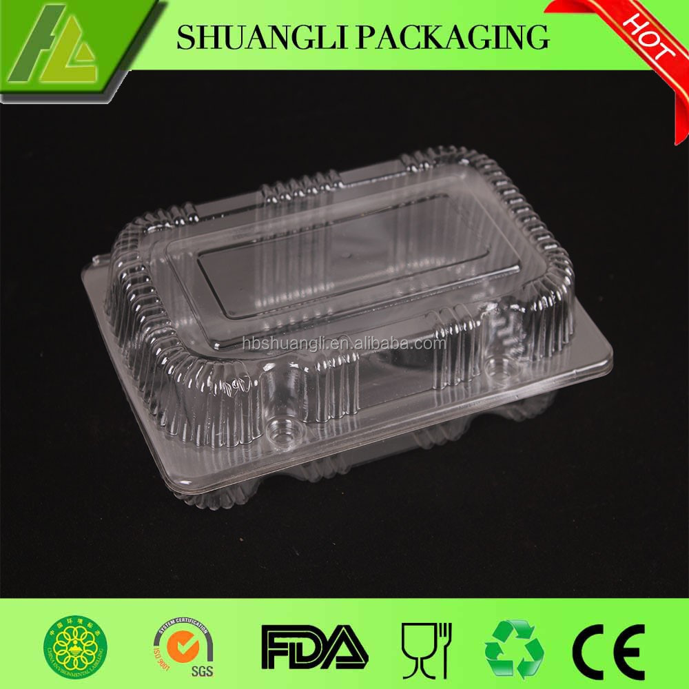 Food grade clear transparent plastic bread packaging box