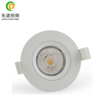 warm white new gyro fireproof led downlight dimmable ceiling spotlight 9w cob recessed 83mm cutsize with factory price