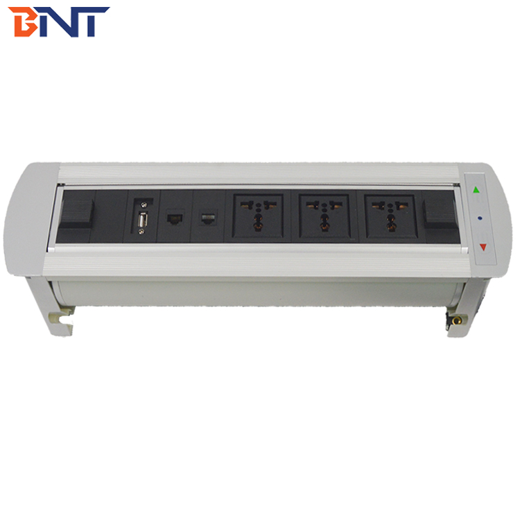 BNT Motor Drive Desktop Power Socket With USB for Meeting Room