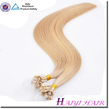 Hot Sale Current Market Fashion Excellent Quality Perfect Color Italy Keratin micro links brazilian remy hair