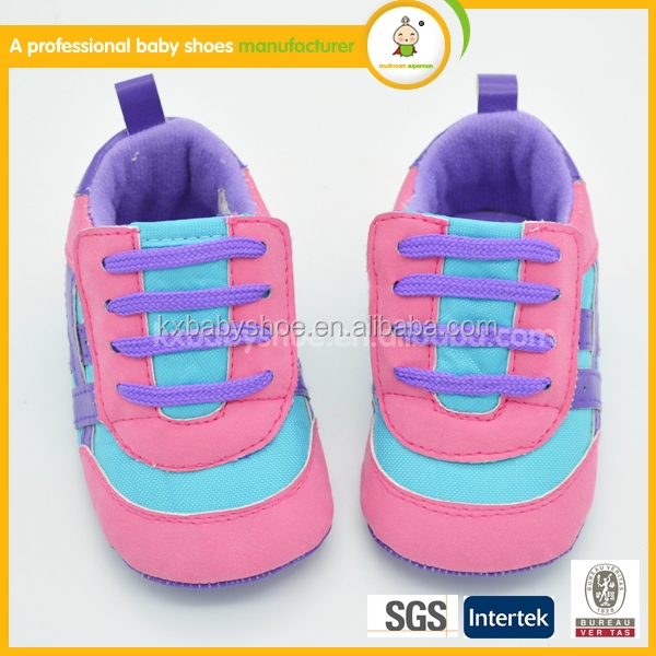 Import baby shoes china pink lovely kids sport sneaker shoe