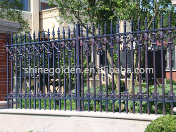 Used Metal Garden Fence Decorative Garden Fence SG-15F008