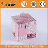 fashion spliced pattern decorative gift box with lock