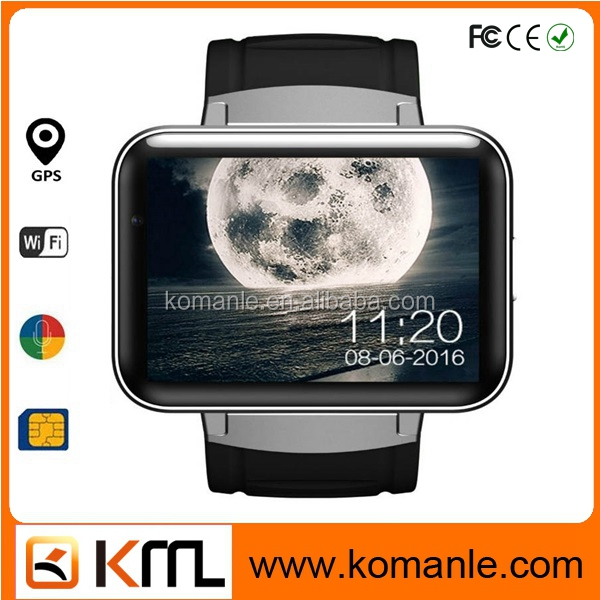 Sports Stylish big screen watch phone dm98 2.2 IPS Touch Screen GPS Wifi android smart watch