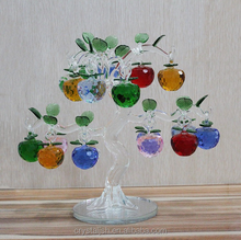 Decorative Crystal Glass Apple Tree Crystal Centerpieces Crafts For Christmas decoration