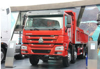 HOWO CNHTC brand engine, HW15710transmission/lengthen cab/single bunk/12wheels,8*4 dump truck /manual dumper man diesel euro 3