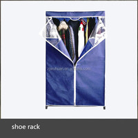 Portable Metal Closet Wardrobe with PVC window