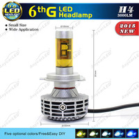 3000K 4300K 6500K 8000K 10000K 12v 35w xhp70 6000lm motorcycle car H4 led headlight bulb