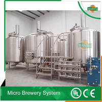 1000L stainless steel beer brew house, mashing room for sale