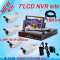 "Most competitive 7"" LCD Monitor Display 1.0MP Megapixel IP Camera P2P Network NVR Kit"