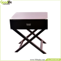 Wooden hand painting side table for bedroom vanity table