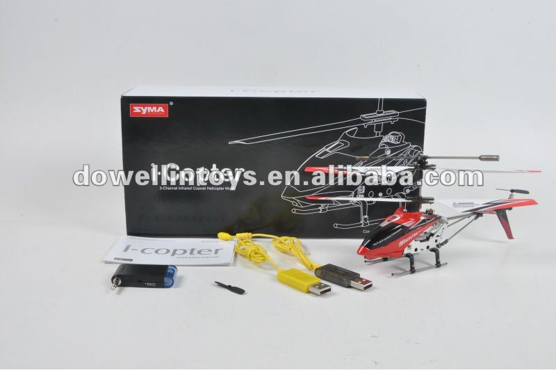 HOT SALE!!!3.5ch Iphone rc syma s107 helictoper with gyro