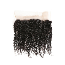 Kinky Curly Hair Brazilian Hair Extensions 1B Color 360 Lace Frontal Kinky Curly