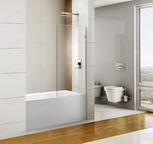 Australia bath frameless shower screen 10mm thickness walk in shower door