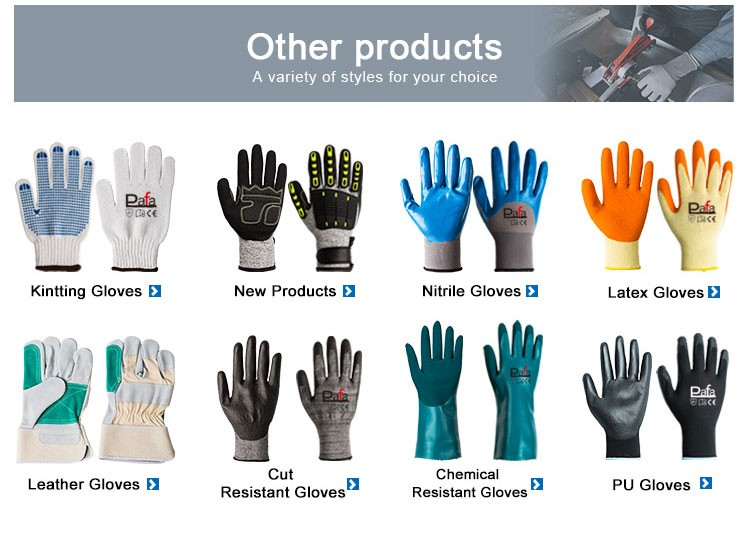 Professional top household coated glove with canvas cuff