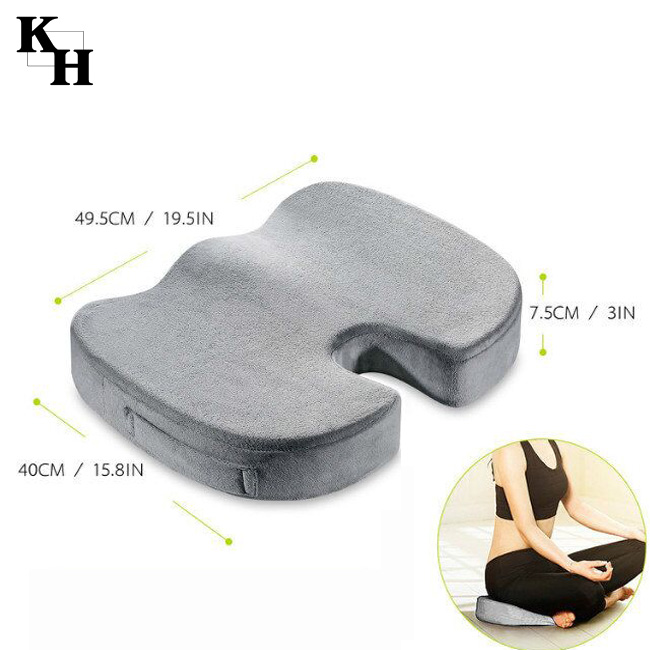 Luxury coccyx orthopedic wheel chair pure memory foam seat cushion