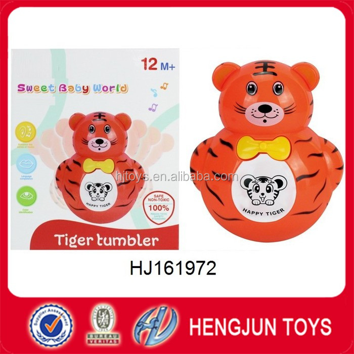 musical plastic toys small animal tiger tumbler flash toy