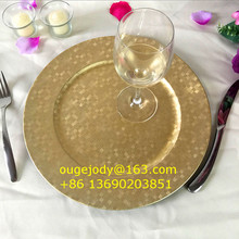 wholesale gold plastic underplate for wedding table decoration