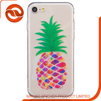 hot pu case with pineapple printing case for iphone SE new design case for phone 5