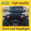 Best quality cr*ee led lighting 7inch led headlight jeep wrangler