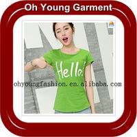 2015 Fashion Woman Clothing,With T Shirt korea Design,Made By Professional Chinese Clothing Manufacture