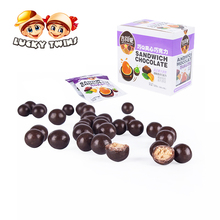 Chocolate couverture beans juice candy gummy from chaozhou