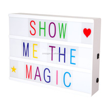 New Color A4 Size Cinema Retro Free Combination Letters Acrylic Cinematic Custom ABS DIY LED Colour Change Light Box