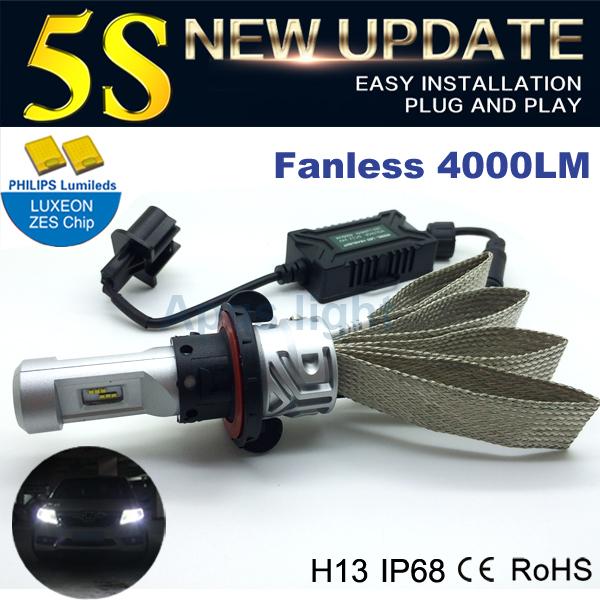 Improved 5S car led headlight 25W h13 led light bulb for car