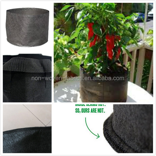 4 Gallon Grow Bag Fabric Pot with Handles, 1 Pack, Outdoor Black Container Gardening Planter Pot for Tomatoes, Fruit, Vegetables